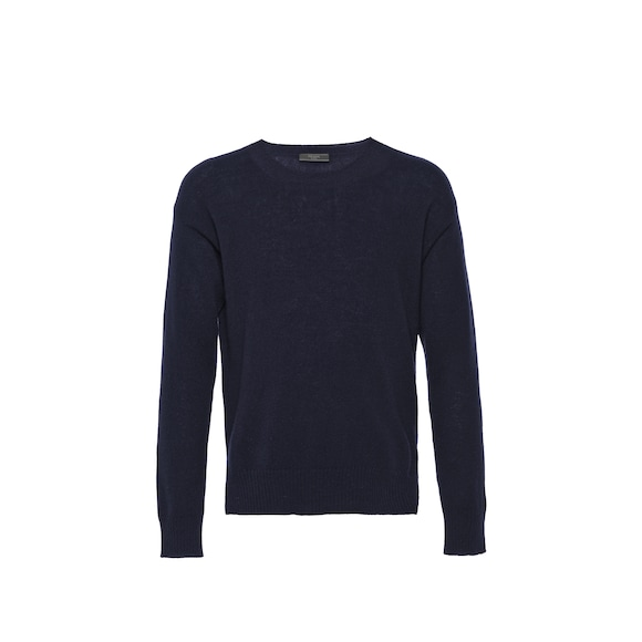 Light cashmere crew-neck sweater