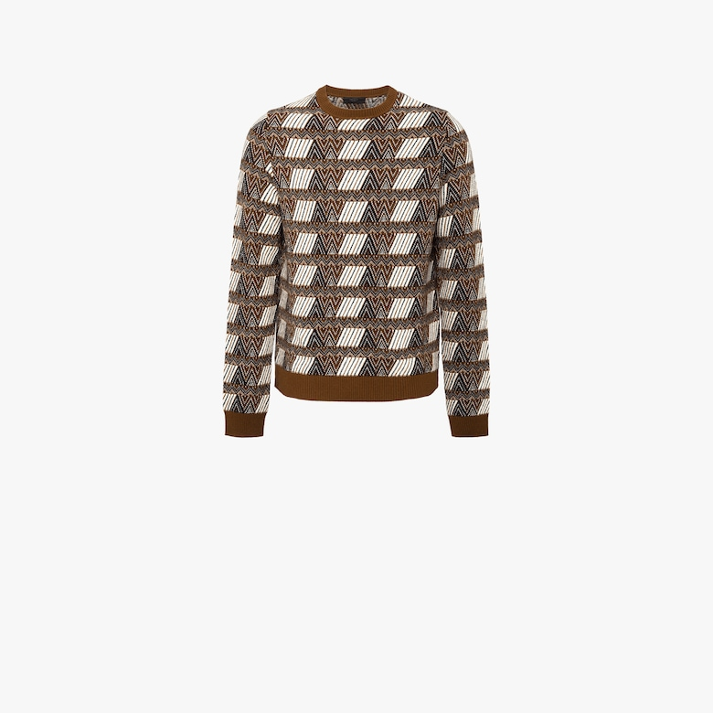 Wool and cashmere crew-neck sweater