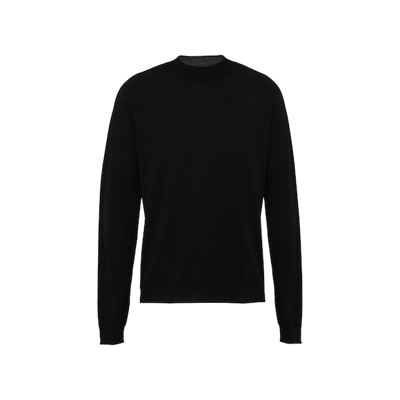 Worsted wool turtleneck sweater