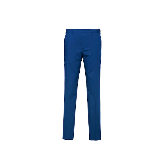 Stretch poplin trousers