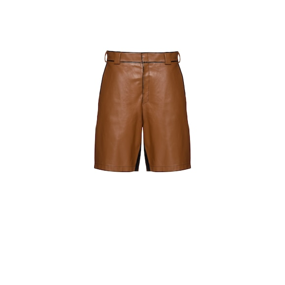 Leather bermudas