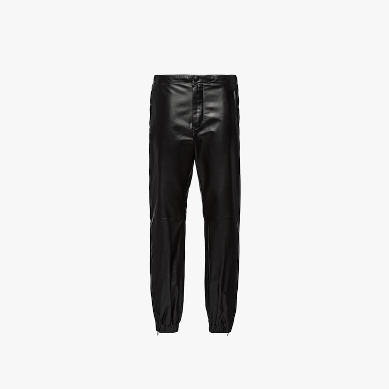 Pantaloni jogging in pelle