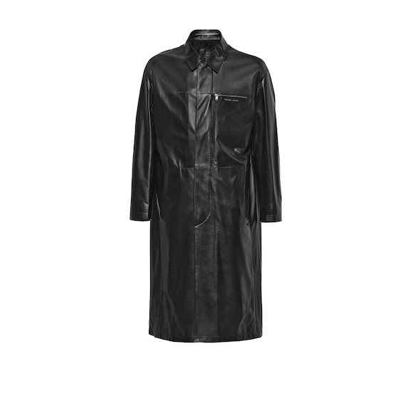 Nappa leather coat