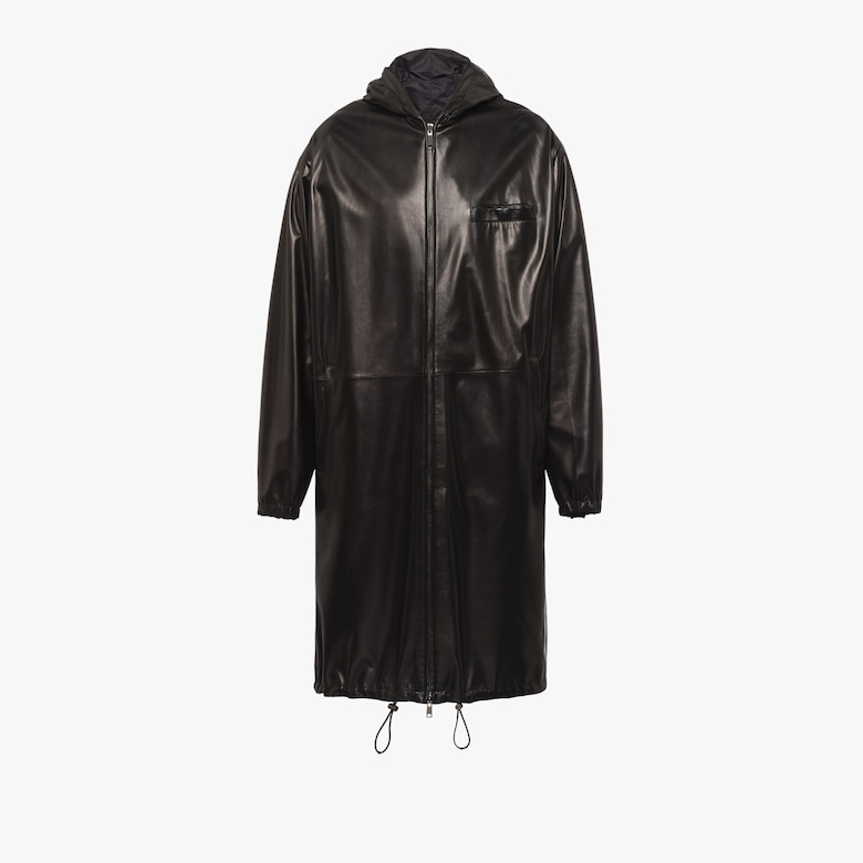 Reversible nappa leather coat