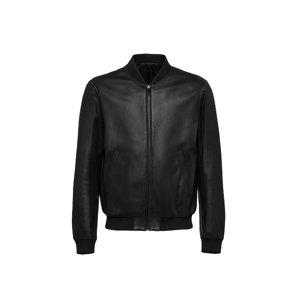 Bomber reversibile in nappa e nylon