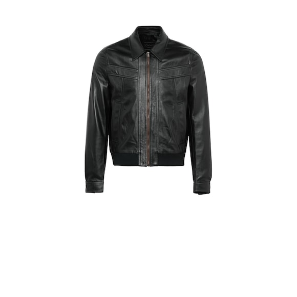 Opaque nappa leather jacket