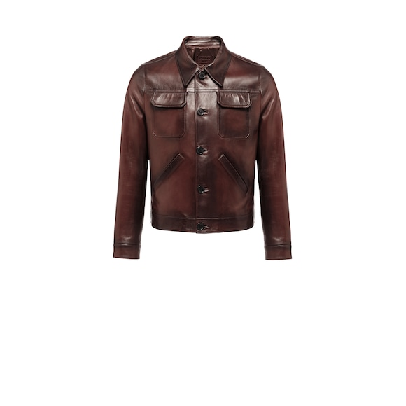 Buffed nappa leather jacket