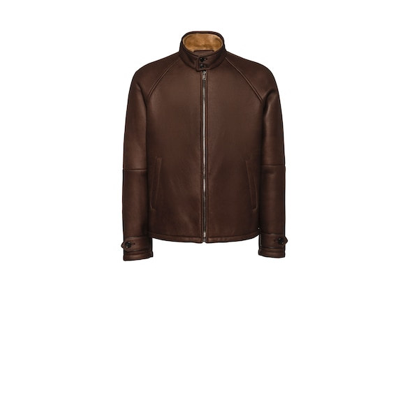 Sheepskin bomber jacket