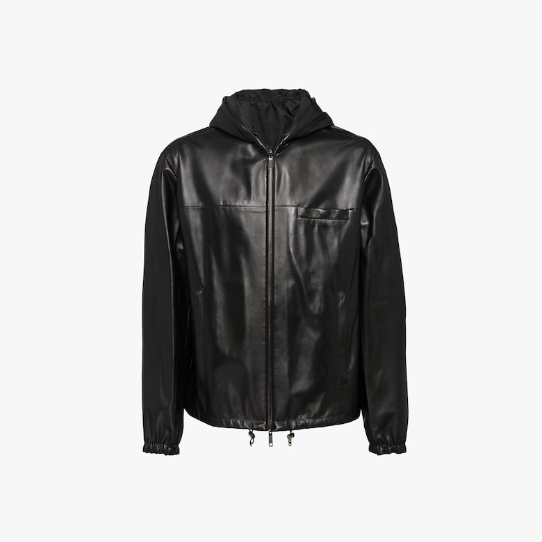 Reversible nappa leather jacket